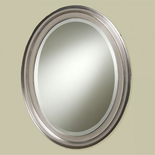 Loree Brushed Nickel Finish Oval Wall Mirror from Howard ...