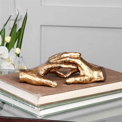 Hold My Hand Table Sculpture Gold