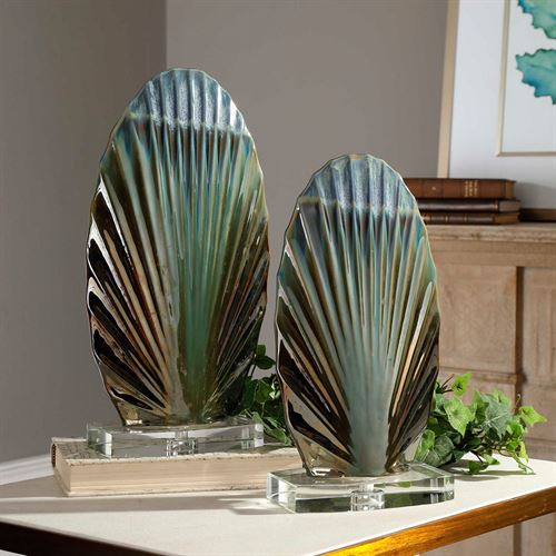 Chanda Table Sculptures Multi Earth Set of Two