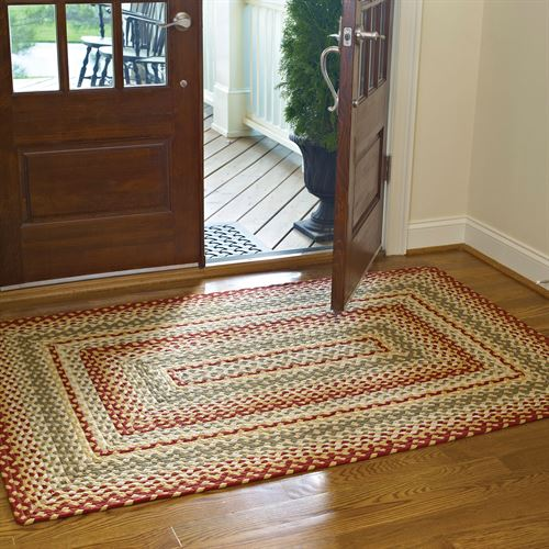 Mill Village Braided Rectangle Rug Russet 4 x 6