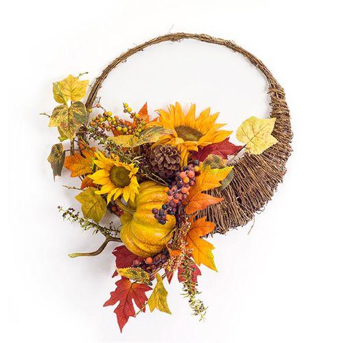 Cornucopia Autumn Wreath Multi Warm