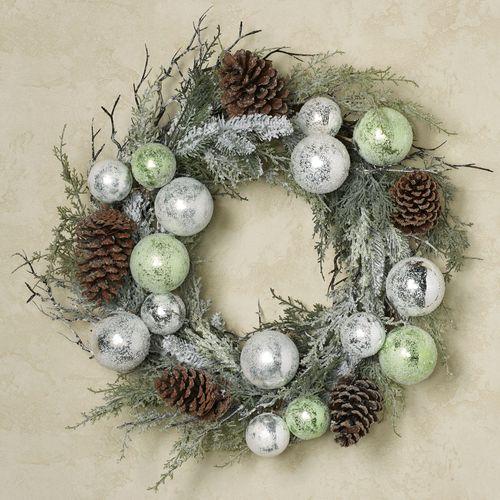 Winter Frost Wreath Green
