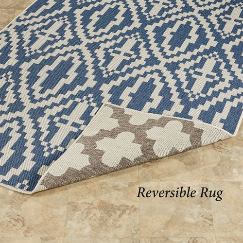 Astley Reversible Rectangle Rug Blue/Gray