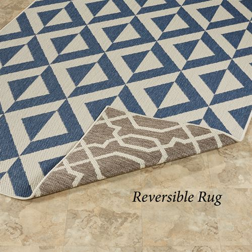 Ridley Reversible Rectangle Rug Blue/Gray