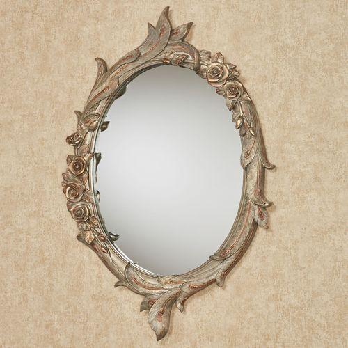 Peacock Elegance Oval Wall Mirror Multi Metallic