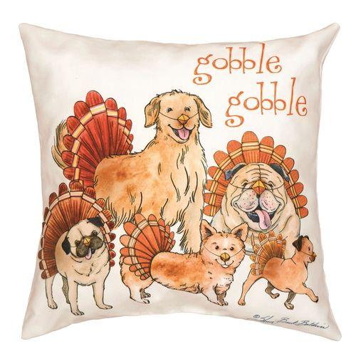 The Gobblers Decorative Pillow Multi Warm 18 Square