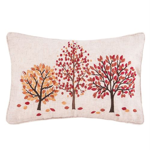 Autumn Forest Fall Decorative Pillow Multi Warm Rectangle