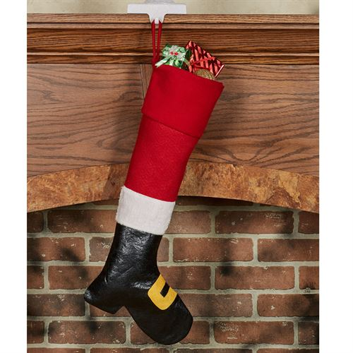 Santa Boot Stocking Red