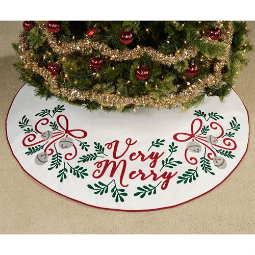 Very Merry Tree Skirt White