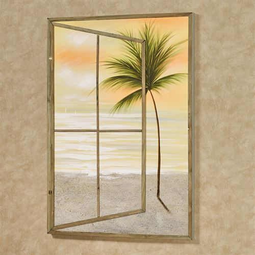 Paradise Dawn Canvas Wall Art Multi Warm