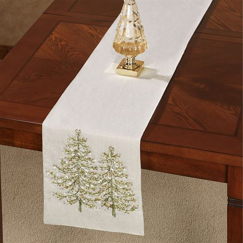 Winter Garden Table Runner Tan 13 x 72