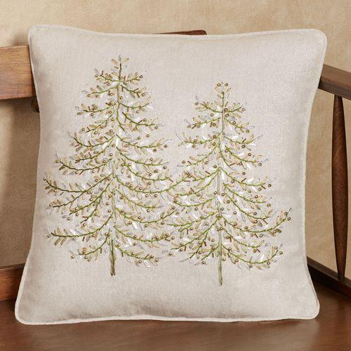 Winter Garden Decorative Pillow Tan 16 Square