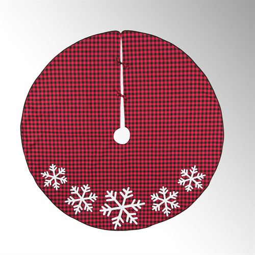 Woodford Snowflake Tree Skirt Red
