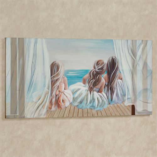 Three Belles Canvas Wall Art Multi Cool