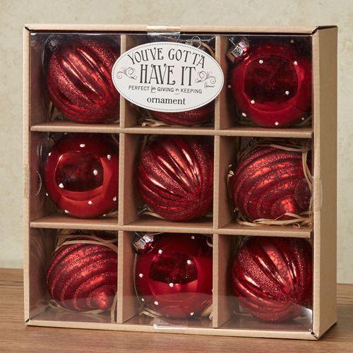 Celebrate the Season Ornament Set Red