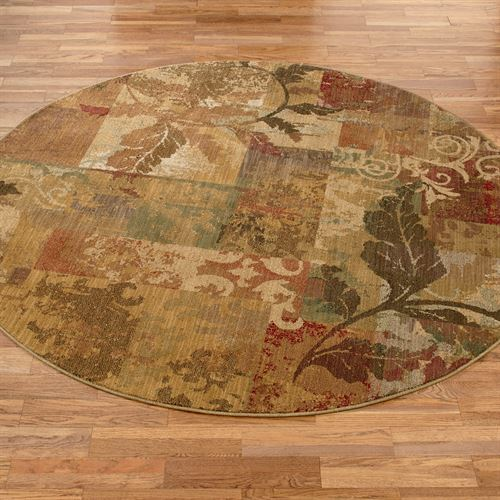 Autumn Allure Round Rug Gold 78 Round