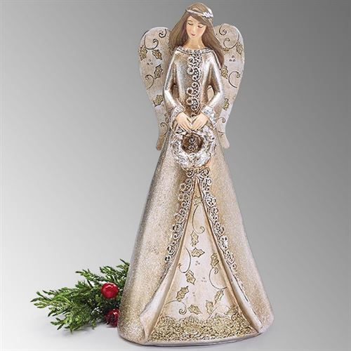 Winter Angel Figurine Multi Metallic