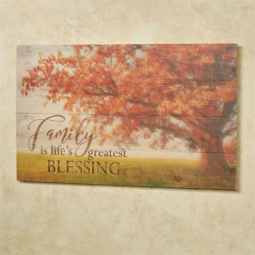 Family Is Lifes Blessing Wall Plaque Multi Warm