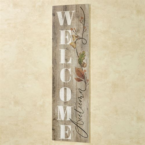 Welcome Autumn Wall Plaque Multi Earth