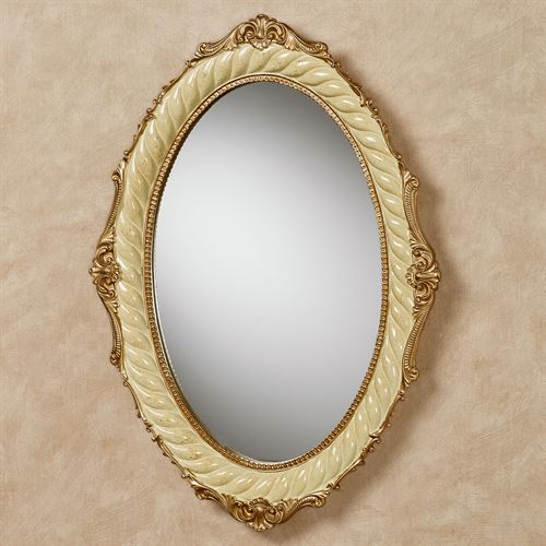 Genevia Oval Wall Mirror Pearl