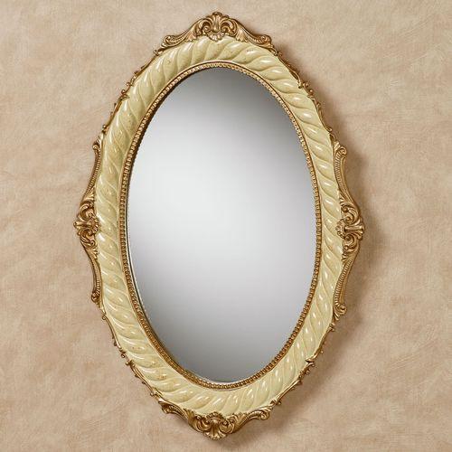 Genevia Oval Wall Mirror Pearl