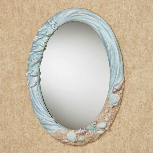 Rising Tides Wall Mirror Blue
