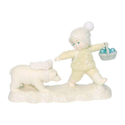 Tag A Long Cub Snowbaby Figurine Ivory