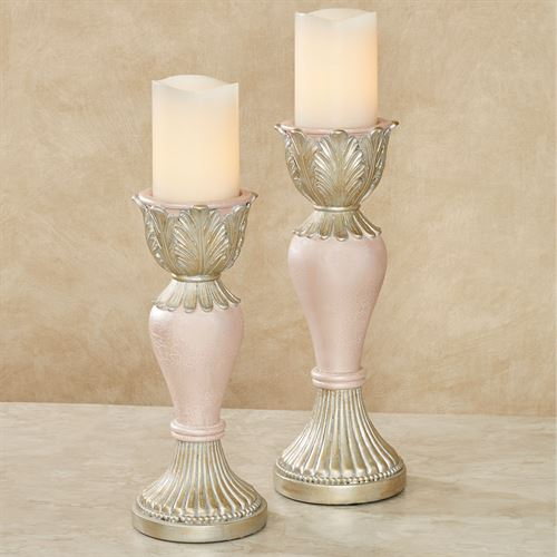 Aurelleigh Candleholders Rose Quartz Set of Two