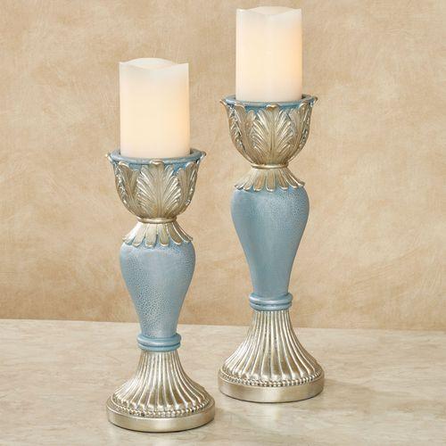 Aurelleigh Candleholders Sapphire Set of Two