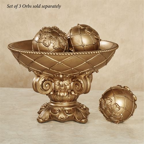 Corinthia Decorative Centerpiece Bowl Only Aged Gold