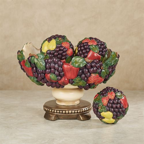 Tuscan Fruit Decorative Centerpiece Bowl Only Multi Jewel