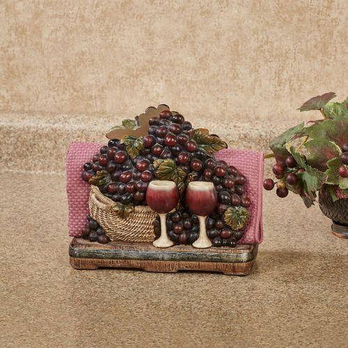 Wine Picnic Napkin Holder Multi Earth