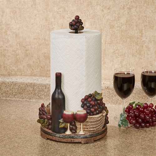 Wine Picnic Paper Towel Holder Multi Earth