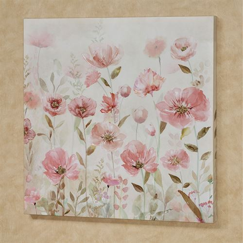 Floral Fusion Canvas Wall Art Pink