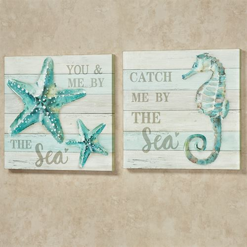 Beach Memories Canvas Wall Art Multi Cool Set of Two