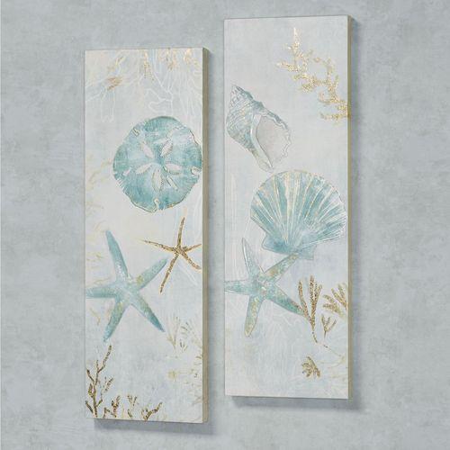 Seashell Serenade Canvas Wall Art Multi Cool Set of Two