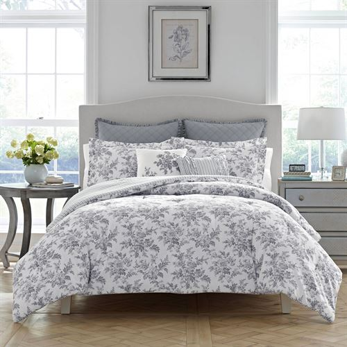 Annalise Floral Comforter Bed Set Off White