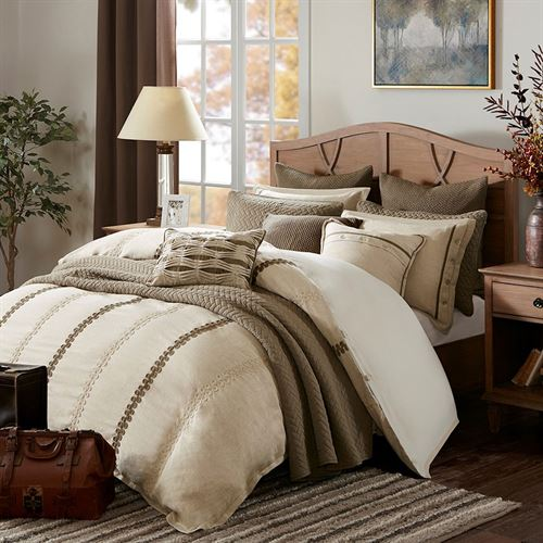 Chateau Comforter Bed Set Almond