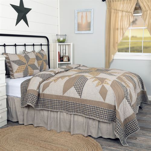 Durham Star Patchwork Mini Quilt Set Multi Warm