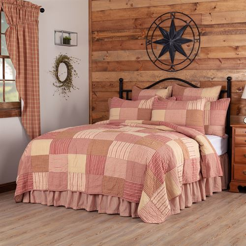 Sawyer Mill Red Patchwork Quilt Dark Red