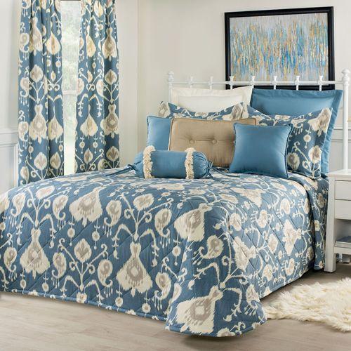 Delhi Bedspread Blue Shadow