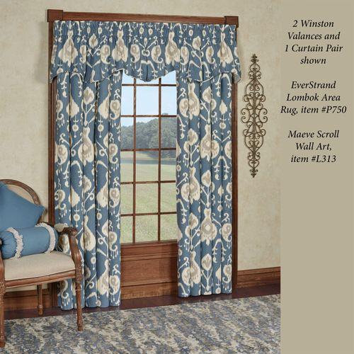 Delhi Winston Valance Blue Shadow 52 x 16