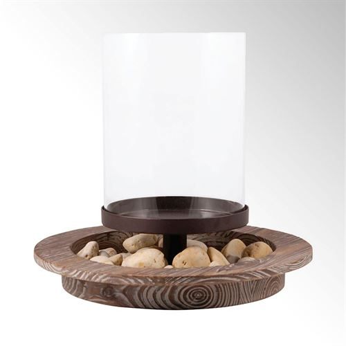 Southport Hurricane Candleholder Brown