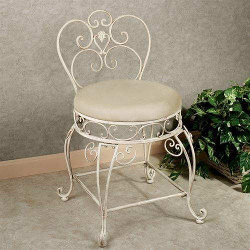 Aldabella Creamy Gold Vanity Chair