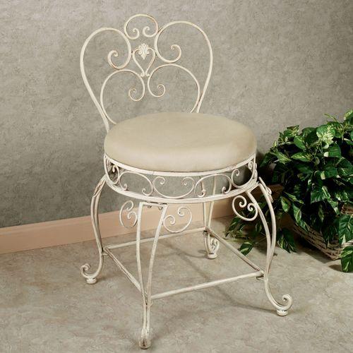 Aldabella Creamy Gold Vanity Chair