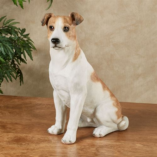 Perky Pup Dog Sculpture Tawny