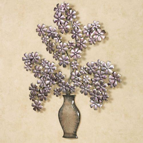 Elegance de Bouquet Wall Art Amethyst