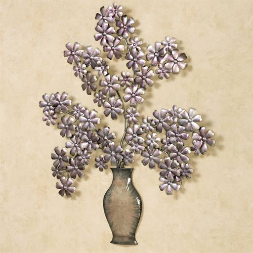 Elegance de Bouquet Wall Art Amethyst