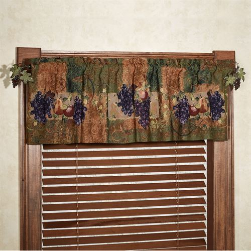 Tuscan Countryside Fruit Valance Multi Warm 56 x 17