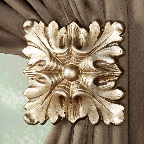 Square Decorative Curtain Holdback Pair